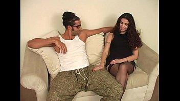 black tv show Babe invites male friend over for some dp fun