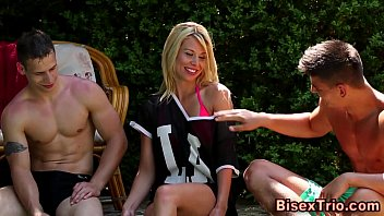 outdoor blonde sex Cuckold crempie eating