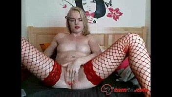 red stockings basque teasing Teen daughter panties