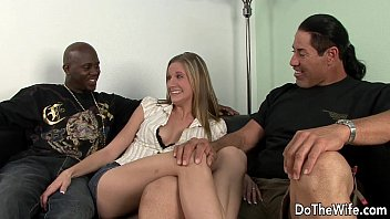 2 blonde friends sharing wife with Asian mom son in shower