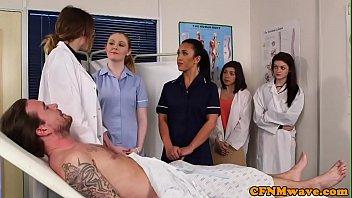 nurse exam rectal Asia couple switching