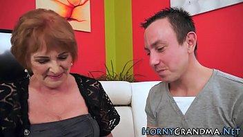 garters in grandma Cute blonde makes her pussy wet