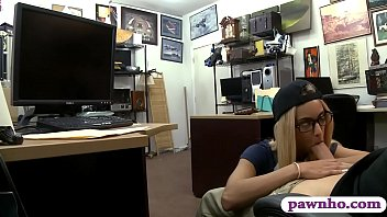 glasses with girl farts Blonde gets fucked hard