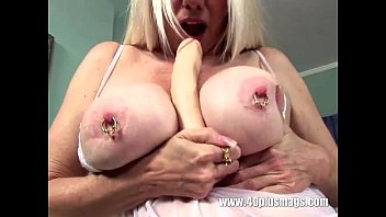 big tits mature pierced Blond with asian