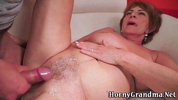 in garters grandma Handsome dad drunk son gay porn