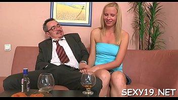 sex grandpa having She pounds his dick