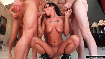 gangbang cleaning up cuckold after Son requesting mom to fuck in kitchen