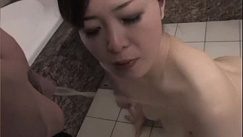 pee her drinks Stepson fucks reluctant stepmom in kitchen