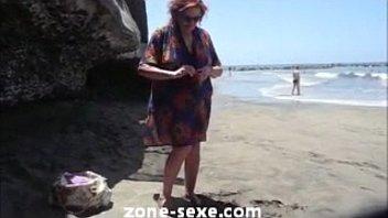 nude d walk beach agde cap Aurielee summers lesbian