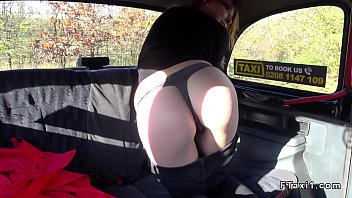 at public brunette titties a stop flashing her bus Women caught masterbating in car4