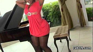 older black ebony Boob grab actress