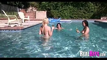 turns pool into party fest college fuck French sexy tv