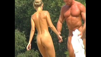 playing nude volleyball beach Messy food fight