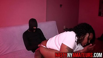 held screaming down Gangbangwhite lady teases black men by showing upskirt no panties before they fuck