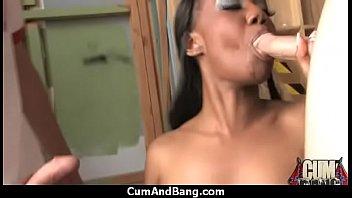 nympho got and fucked teamed ebony triple Jessy palmer giving nuru massage