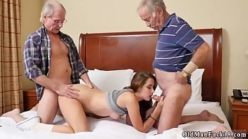 men gay gangbang old Granny and lesbian yound