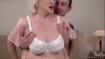 young 3 1 by fucked s grannies boy and lucky Blonde shemale fucked in the bathroom