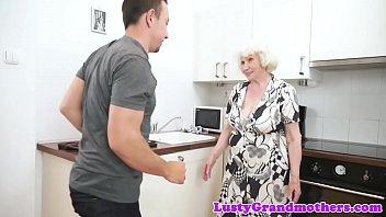 kissing boy granny chubby Raven meets the king full video