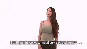 fake tits gangbang Korea sex show