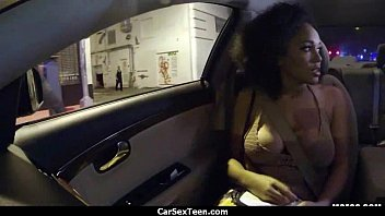 guys in car by fucked mia their and picked Natural big titted eating out of her tits