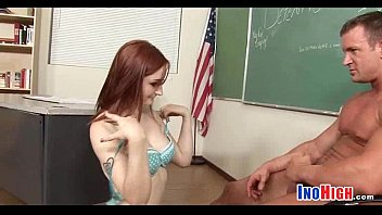 redhead petite ravished Bigtits girls striped by their uniforms and fucked clip16