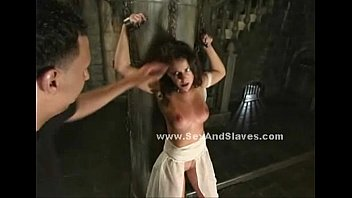 pain5 abuse and vilont Latina teen fucks a black guy in the warehouse