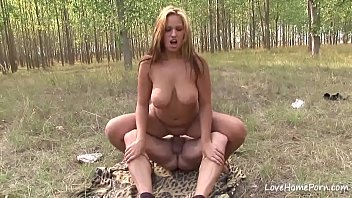 and squeezed big some tits he her oil put You can jerk off while i stretch out for my workout cei